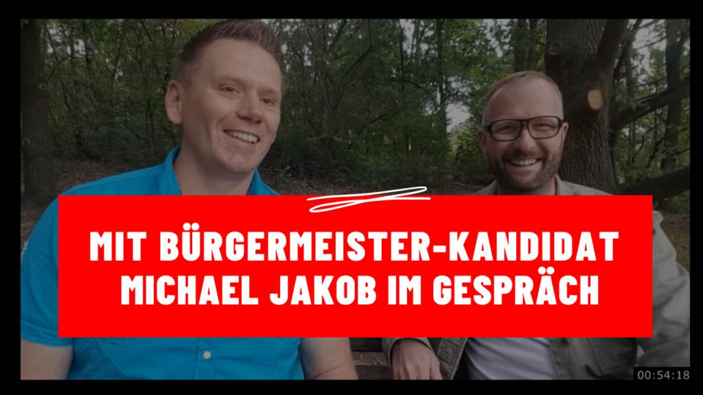 Zwickau - Maik Klaumünzer mit Bürgermeister-Kandidat Michael Jakob im Gespräch