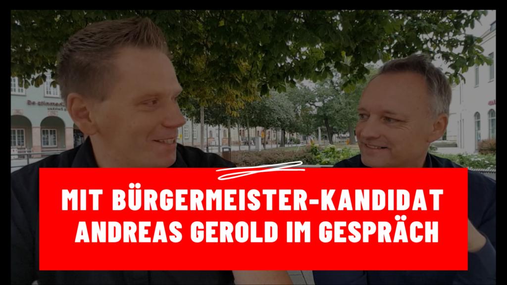 Zwickau – Maik Klaumünzer mit Bürgermeister-Kandidat Andreas Gerold im Gespräch